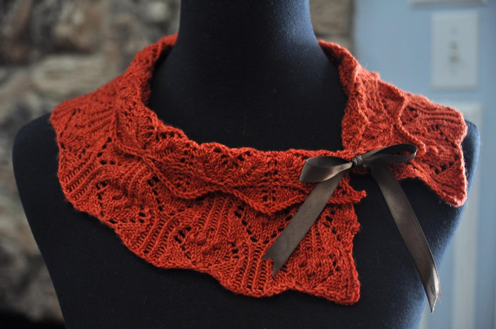 Knitting Pattern For Lace Collar : fingering tumbleweedyarn